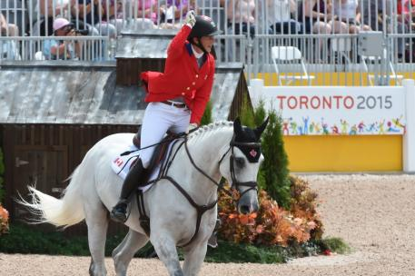 Canadian Colleen Loach riding Qorry Bue D'Argouges, a Selle Francais gelding made it clear. Photo: © Diana De Rosa