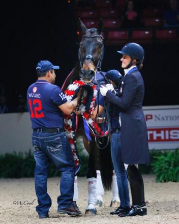 Wizard in his offical retirement with rider Adrienne Lyle (Photo:(c) McCool Photography)