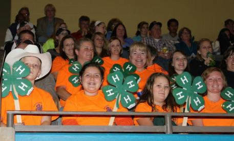 An area 4H group attended Barn Night at the National Horse Show in 2013. Photo by Kendall Bierer