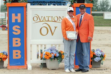 Ovation Leading Trainer Polly Howard with James Zulia