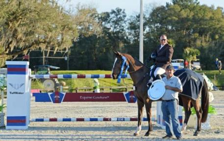 Aaron Vale earned the victory in Sunday's $50,000 Equine Couture/TuffRider Grand Prix. Photo By ESI Photography