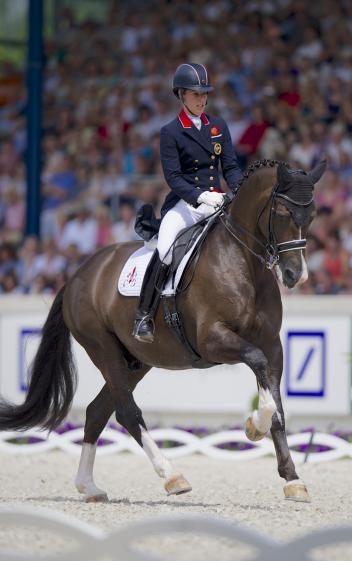 Charlotte Dujardin riding Valegro at the CHIO Aachen 2014 (Photo: Aachen2015/ Arnd Bronkhorst)