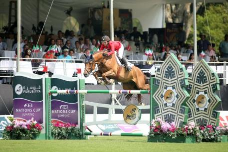 Ali Wolff and Casall produced the only double-clear of the competition to help clinch victory, and a qualifying spot at the Furusiyya 2015 Final, for Team USA at the third leg of the Furusiyya FEI Nations Cup™ Jumping 2015 series at Coapexpan, Mexico. (FEI/Anwar Esquivel)
