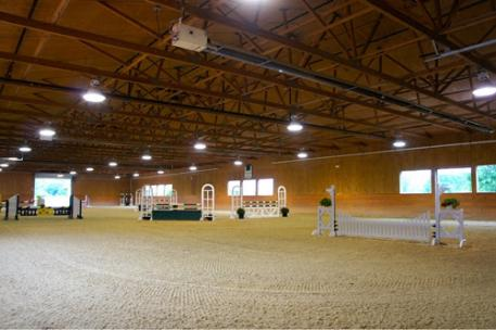 The beautiful indoor arena at Always Faithful Stables