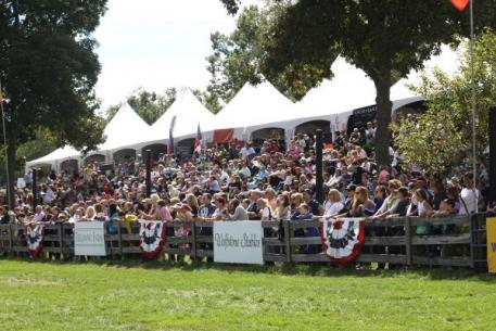 Part of the huge crowd that enjoyed last year's American Gold Cup at beautiful Old Salem Farm.