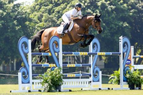 Amy Millar and Heros win the Week 6 Ridge at Wellington Turf Tour 1.40m Grand Prix.