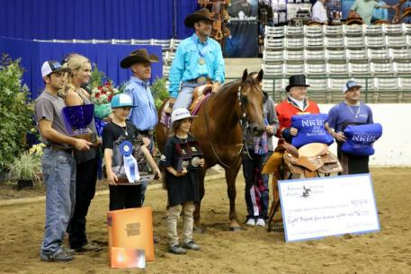 Andrea Fappani marked a 224 on Custom Spook to win the championship in the Open Classic Challenge and $25K NRHA Open.
