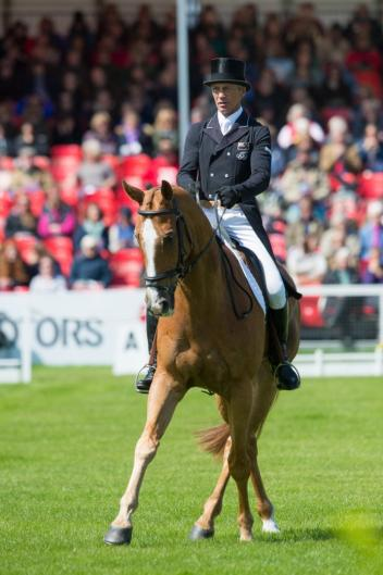 Andrew Nicholson (NZL) and Nereo take a commanding lead after the first day of Dressage at the Mitsubishi Motors Badminton Horse Trials, fourth leg of the FEI Classics™ 2014/2015. (Jon Stroud/FEI)
