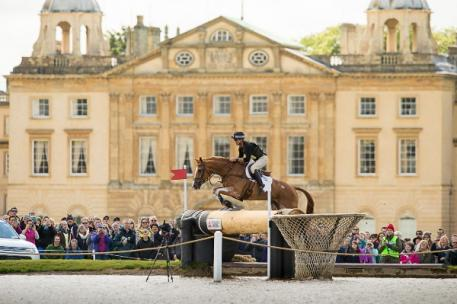 Andrew Nicholson (NZL) and Nereo retain their lead after a perfectly judged Cross Country round at the Mitsubishi Motors Badminton Horse Trials, fourth leg of the FEI Classics™ 2014/2015. (Jon Stroud/FEI)
