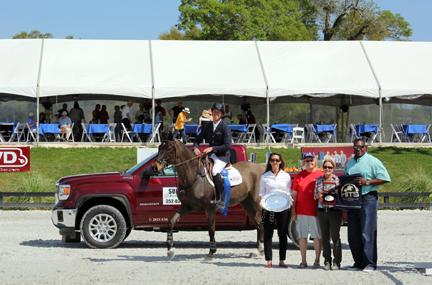 Angel Karolyi and Venus place first in the 00,000 Sullivan GMC Truck Grand Prix Sunday, March 15, 2015, at HITS Ocala. (c) ESI Photography