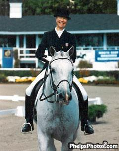 Anne Gribbons and Metallic at Dressage at Devon