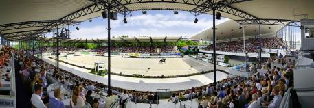 The Deutsche Bank Stadium, where the dressage competitions are staged (Photo: CHIO Aachen/Andreas Steindl)