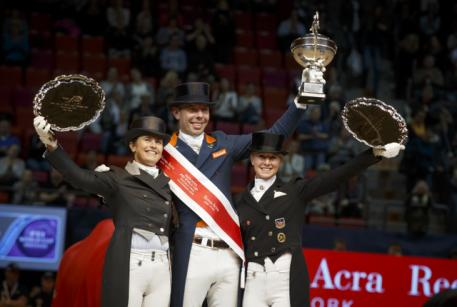 Reem Acra FEI World Cup™ Dressage, 2016, Final, Gothenburg, Sweden, Tinne Vilhelmson-Silfven, Hans Peter Minderhoud, Jessica von Bredow-Werndl ,FE, Dirk Caremans