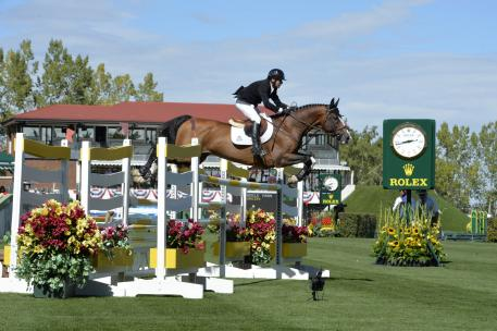 """Canadian rider Eric Lamaze who has already qualified for the """"CP 'International', presented by Rolex"""" on Sunday"""