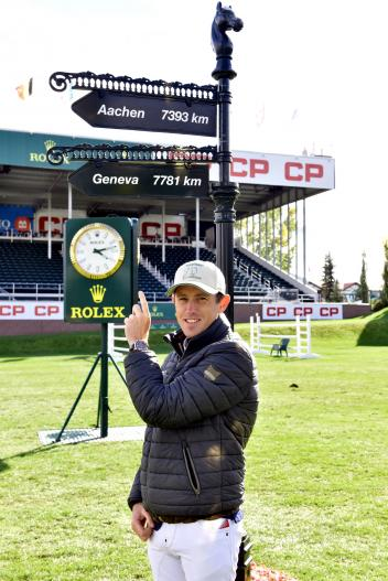 "Scott Brash, winner of the ""CP 'International', presented by Rolex""."