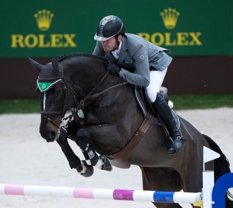 current Grand Slam contender Philipp Weishaupt riding Asathir at CHI Geneva 2017. (picture: Rolex Grand Slam of Show Jumping/Kit Houghton)