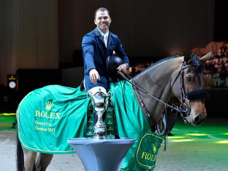 Kent Farrington and Gazelle, winners of the Rolex Grand Prix at the CHI Geneva 2017.