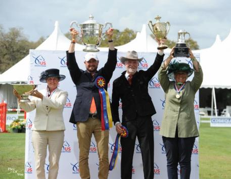 2017 USEF Combined Driving National Champions Tracey Morgan, Chester Weber, Steve Wilson and Katie Whaley.