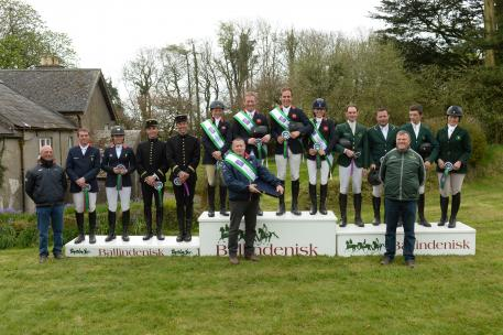 Winners of the FEI Nations Cup Eventingª qualifier at ballindenisk Ireland was the Great Britain team of Izzy Taylor,Oliver Townend,Wills Oakden and Franky Reid-Warrllow,with Chef D'equipe Philip Serle.