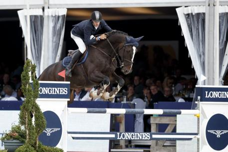 "Winner of the 6 year old class at FEI World Breeding Jumping Championships™ for Young Horses at Laneken was ""Van Mierlo"""