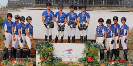 Adult Amateur Team Zone 10 captured gold at the USHJA Adult Amateur Jumper West Regional Championship.