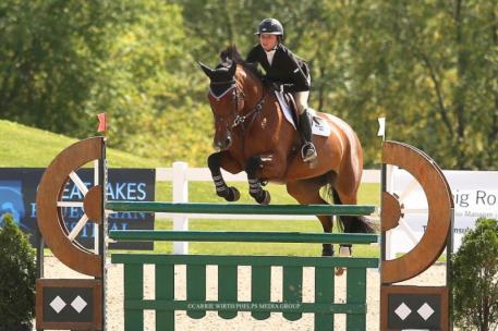 Ailly Moyer and Etoile Van't Lamboroeck  at the Great Lakes Equestrian Festival