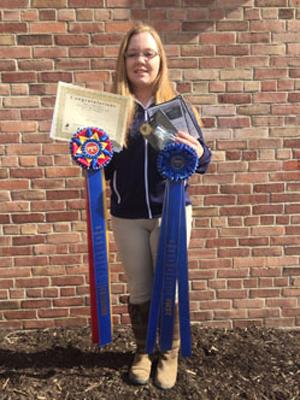 Alexandria Belton, winner of the Grand Prize 4-week Internship at Hilltop Farm, Inc.