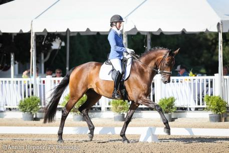 Alice Tarjan and Fairouz (Photo: Annan Hepner/PS Dressage)