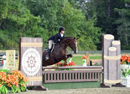 Allison Joyce and Boccaccio on their way to a $250,000 Platinum Performance Hunter Prix Final win.