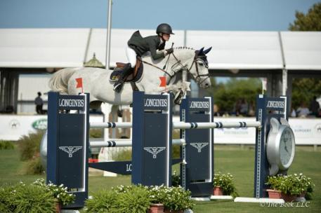 Amanda Derbyshire and Lady Maria BH won Sunday's $30,000 Boar's Head Jumper Challenge presented by Dan's Papers.