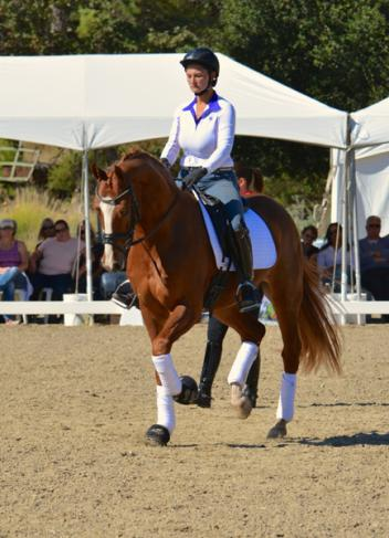 Amelie riding Toretto at Charlotte Dujardin clinic in October.