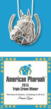 American Pharoah Pendant with horseshoe