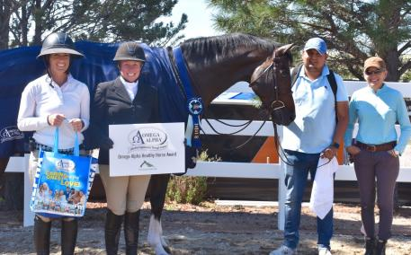 Ampersand, owned by Mary Sunahara and trained by Tess Harris, won the Omega Alpha Healthy Horse Award at the Colorado Horse Park