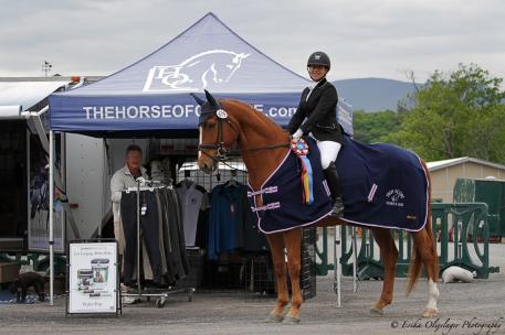 The Horse of Course High Score Award was presented to Amy Gimbel and Eye Candy at the recent Centerline Events dressage show in Saugerties, New York