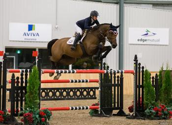 Amy Millar of Perth, ON, guided Heros to victory in the $35,000 CSI2* Caledon Cup