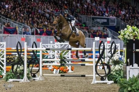 Amy Millar of Perth, ON, claimed her first Canadian Show Jumping Championship title riding Heros on Saturday, November 4, at the Royal Horse Show in Toronto, ON.