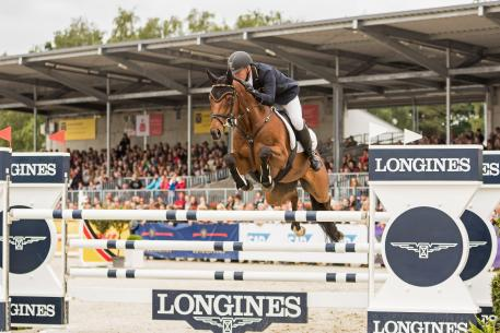 Andreas Dibowski GER riding It`s Me xx in the CCI4* Luhmühlen 2016.