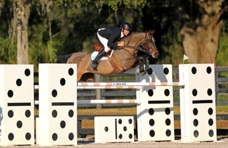Andrew Kocher and Ciana on their way to a $25,000 SmartPak Grand Prix win.