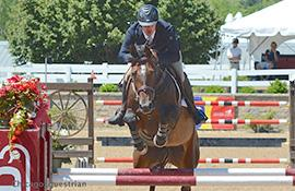 Andrew Kocher and Ciana top the 0,000 Welcome Stake (Photo: Chicago Equestrian)