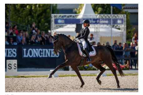 Danish Anne Troensegaard and the Trakehner Kipling