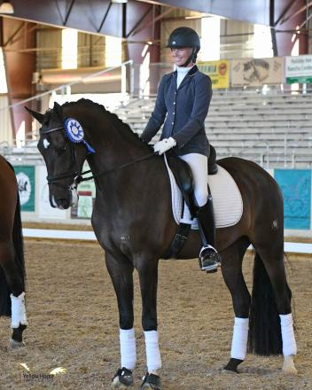 Ashlyn de Groot and U.S.-bred KWPN gelding Impression DG were crowned 2017 champions of the CDS Four-Year-Old Open Futurity.