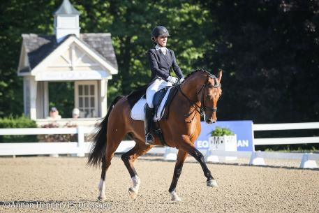 Heather McCarthy and Au Revoir (Photo: Annan Hepner/PS Dressage)