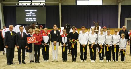 the Nations Cup prize giving ceremony.
