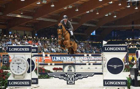 Ludger Beerbaum (GER) rode to third with Casello