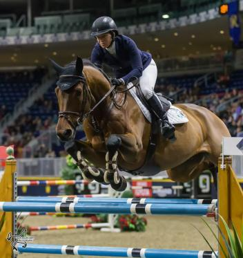 Two-time Olympic team gold medalist Beezie Madden of the United States finished third in the $35,000 International Jumper Power and Speed riding Coach on Tuesday, November 7, at the CSI4*-W Royal Horse Show in Toronto, ON.