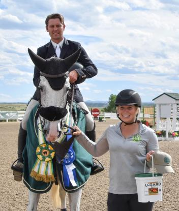 nternational show jumper Benjamin Meredith's mount, Always Me, won the Corta-Flx Sport Horse of the Week Award after winning the $20,000 Open Welcome Stake at the Colorado Horse Park
