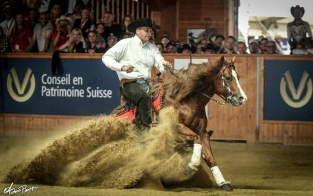 Bernard Fonck captures Belgium's first ever individual reining gold, riding Smart N Sparkin. The duo also led Belgium to the team title