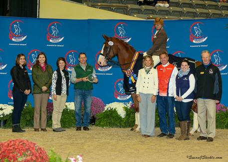 Laxwell recovered from an untimely hoof abscess just in time to carry owner/rider Birgitt Dagge of Florida to win the Third Level Freestyle Adult Amateur Championship at the 2016 US Dressage Finals presented by Adequan®.