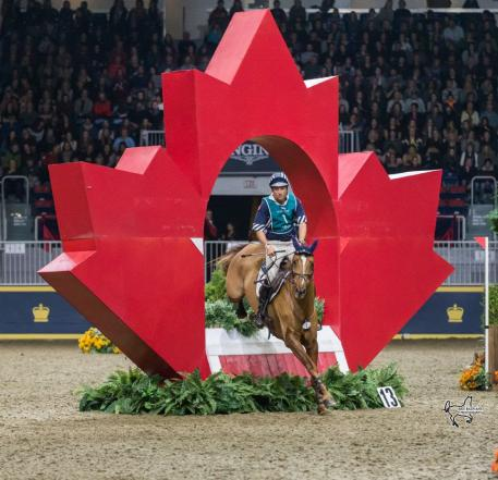 U.S. Olympian Body Martin piloted Kyra to a third place finish in his $20,000 Horseware Indoor Eventing Challenge debut.