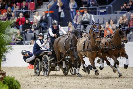 Boyd Exell on his way to his seventh FEI World Cup™ Driving title